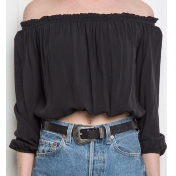 Brandy Melville Black off the shoulder top New with tags, selling it cheaper than online Brandy Melville Accessories