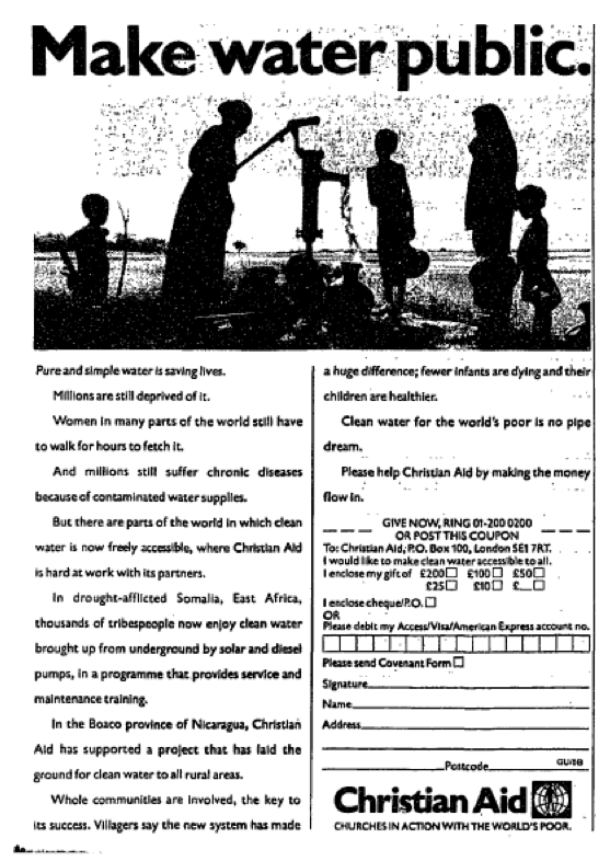 Christian Aid 3 October 1989 About Me Blog Retro Advertising Charity