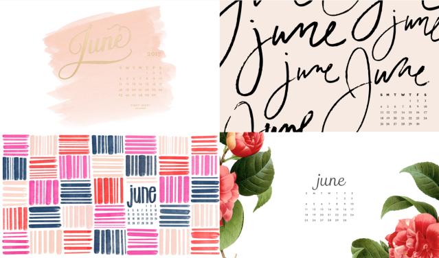 Tablet Calendar Wallpaper : June calendar backgrounds for your phone tablet