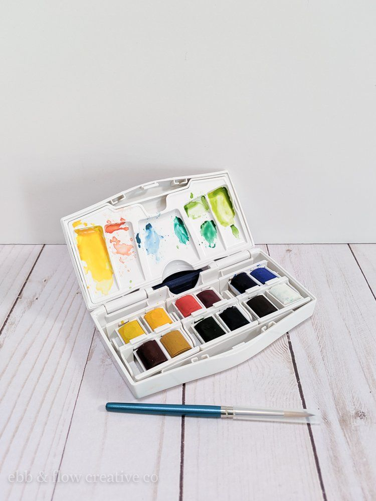 The Best Watercolor Paints For Beginners Ebb And Flow Creative Co Photography Sketchbook Watercolor Workshop Abstract Art Photography