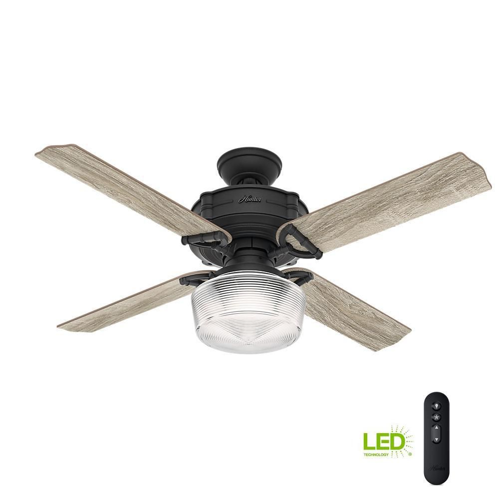 Large Indoor Fans Hunter Brunswick 52 In Led Indoor Natural Iron Ceiling Fan With