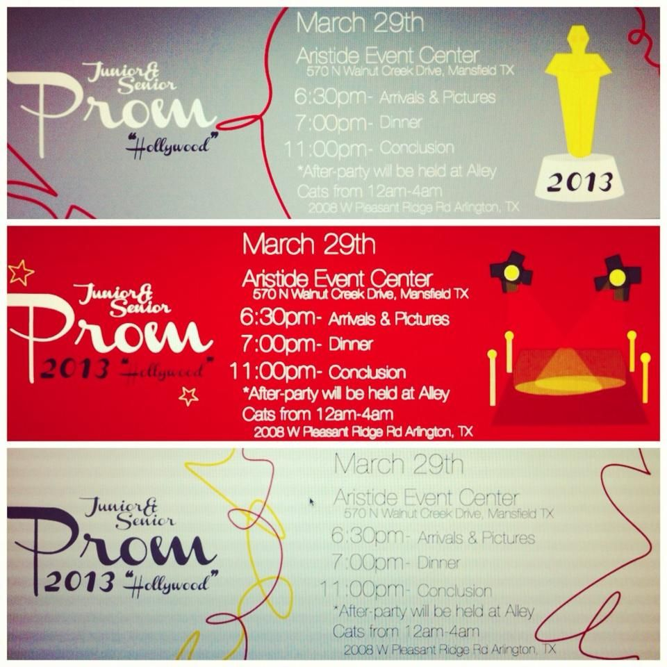 Designs for Prom Tickets for Grace Prep by JocieMorgan – Prom Tickets Design