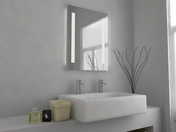Omega led mirror with sensor demister shaver socket bathroom omega led mirror with sensor demister shaver socket aloadofball Image collections