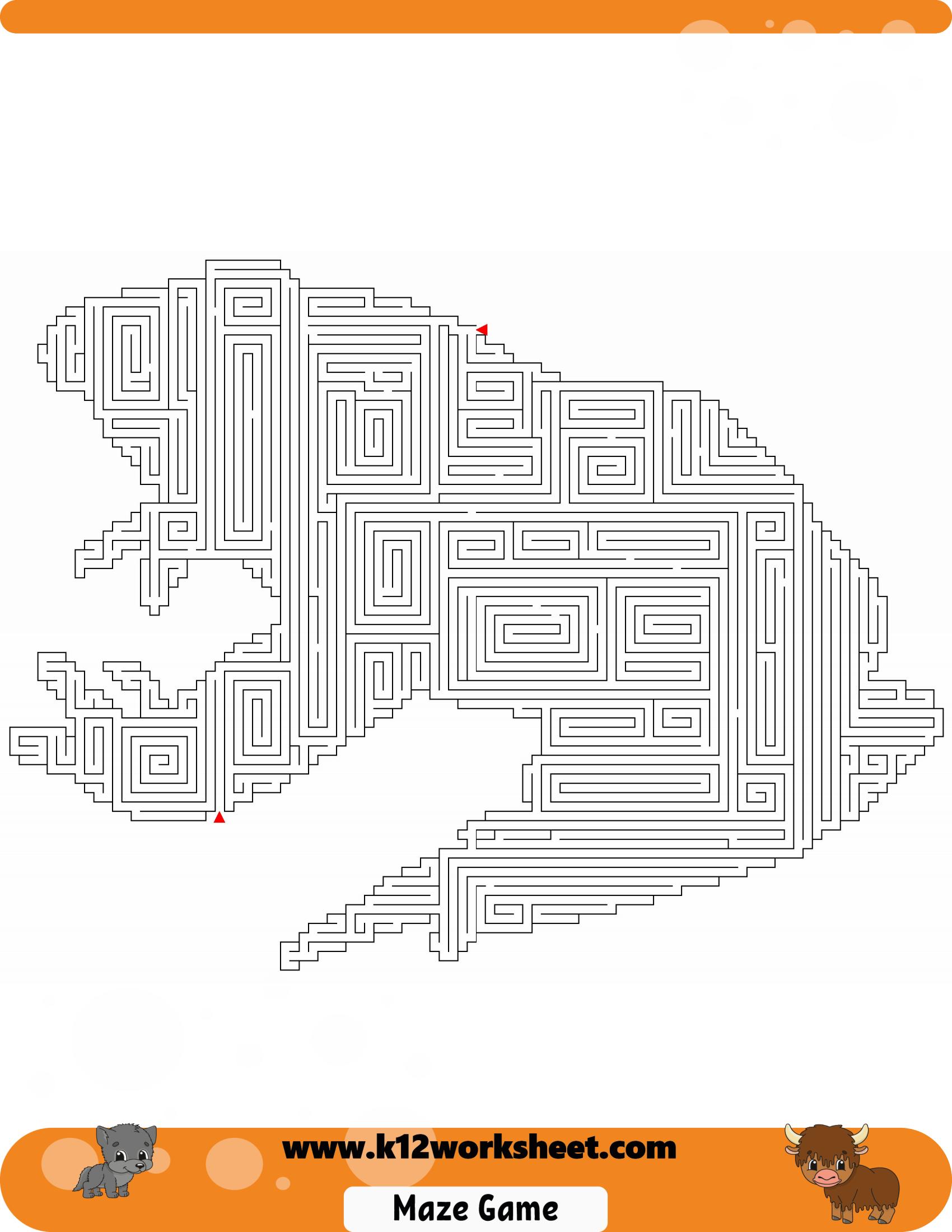 Frog Maze For Kids