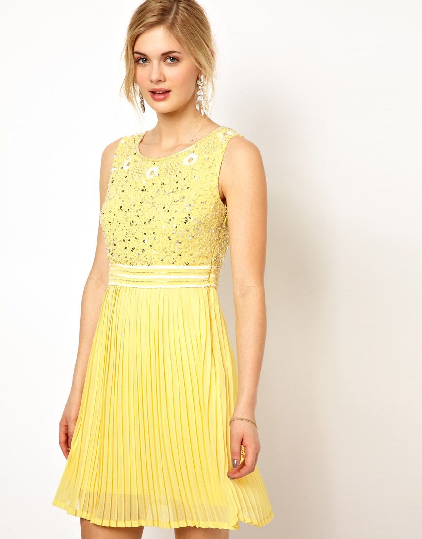 Dress with sequin embellished bodice and pleated skirt just love
