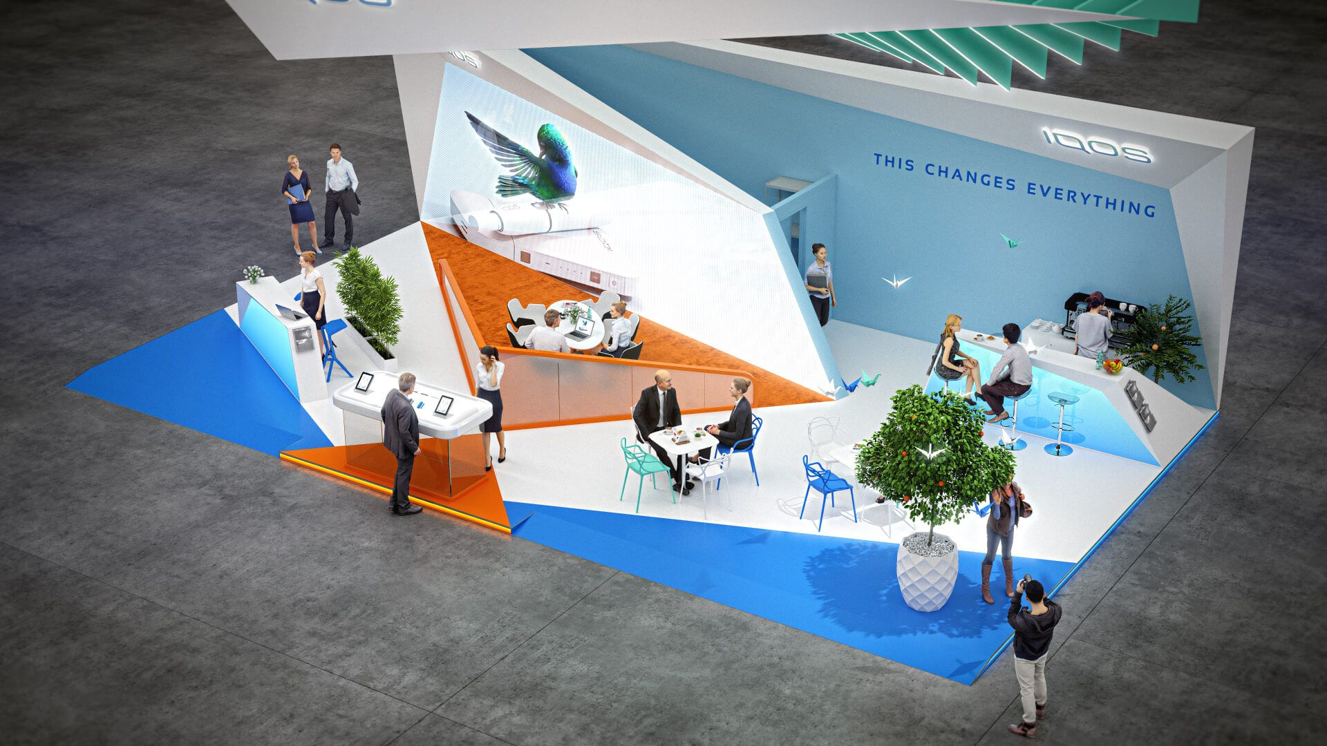 Exhibition Booth Design Concept : Iqos exhibition booth design concept booth design booth design