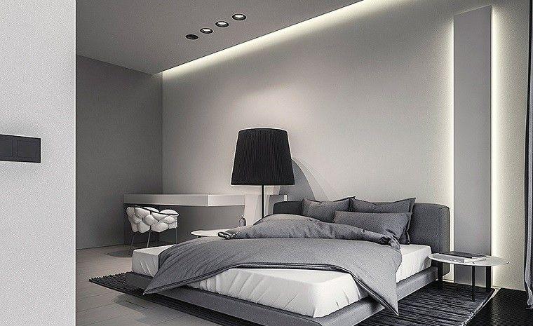 Decoración de interiores modernos en gris y blanco Pinterest