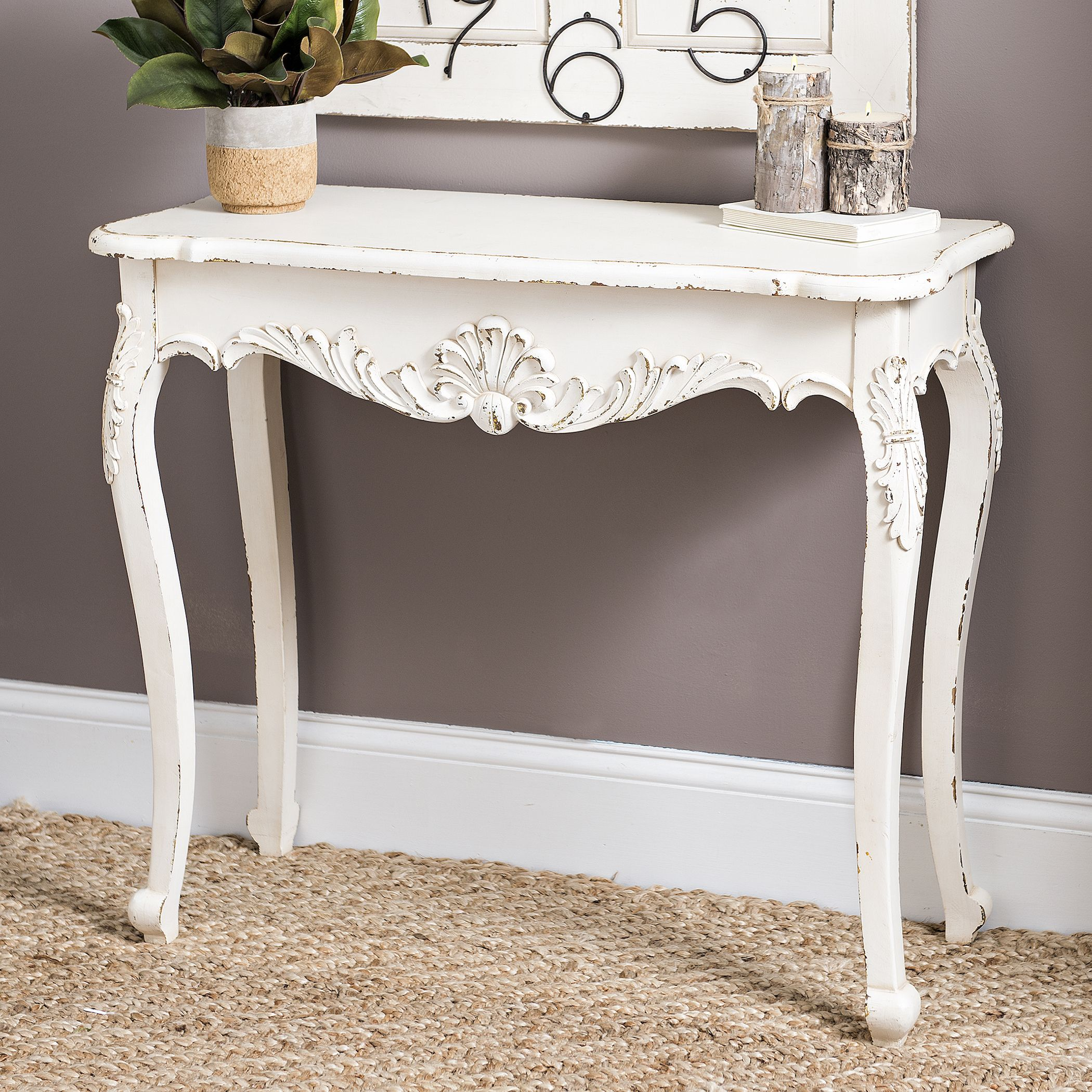 Create A Cheery Entryway With Vintage Charm Antique Console Table Wood Console Table White Console Table