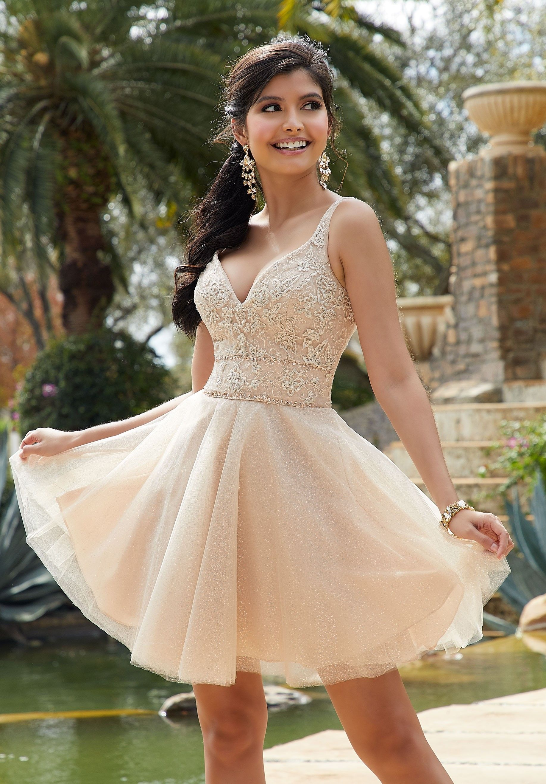 Mori Lee 9518 Sparkle Tulle Party Dress Tulle Party Dress Quince Dresses Quinceanera Dresses Short [ 2630 x 1834 Pixel ]