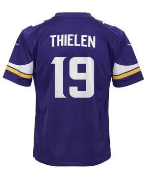 25244085 Nike Adam Thielen Minnesota Vikings Game Jersey, Big Boys (8-20) - Purple XL