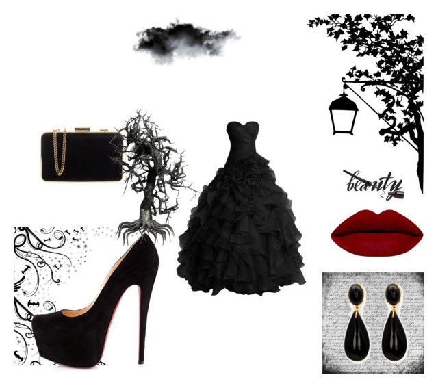 dark prom by artemis-moonlight on Polyvore featuring polyvore fashion style MICHAEL Michael Kors Christian Louboutin women's clothing women's fashion women female woman misses juniors