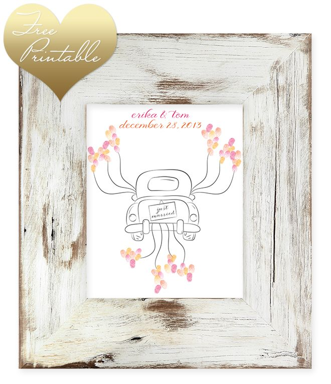 Free Printable Thumbprint Wedding Guest Book  Thumbprint Guest
