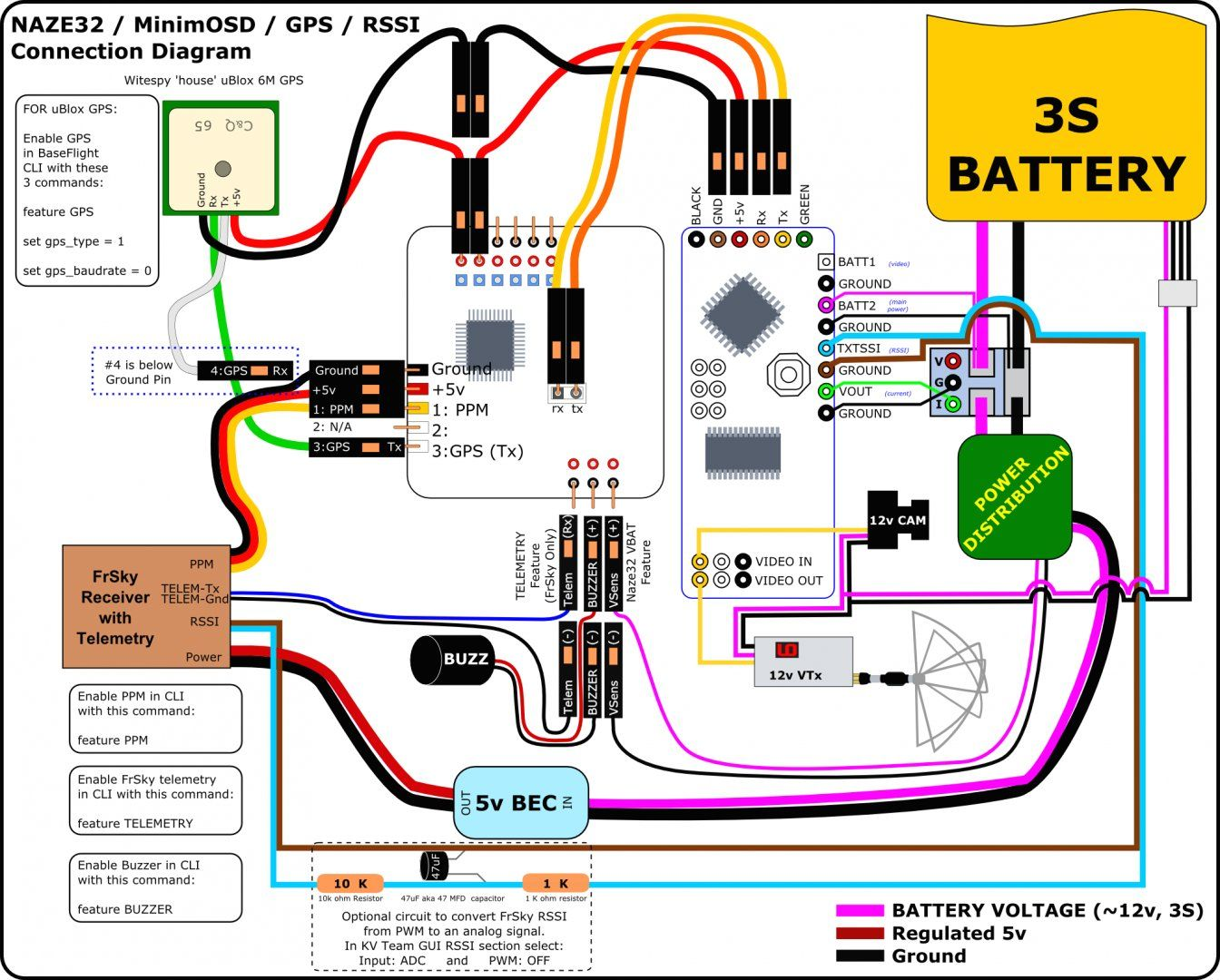 small resolution of bec wiring diagram for fpv