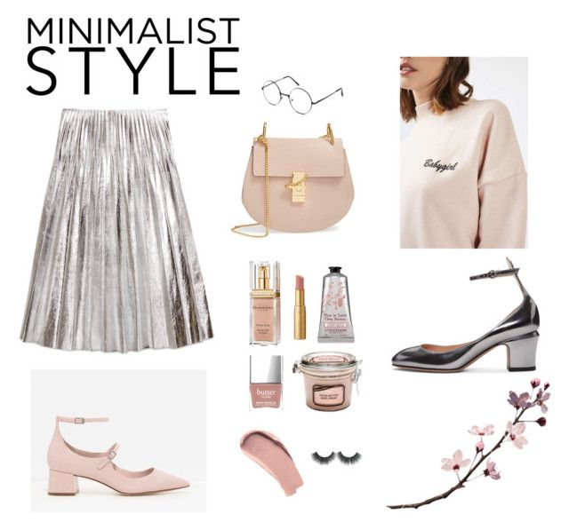 casual by divyabathla on Polyvore featuring Topshop, Gucci, CHARLES & KEITH, Valentino, Chloé, Elizabeth Arden, Burberry, Too Faced Cosmetics and Butter London