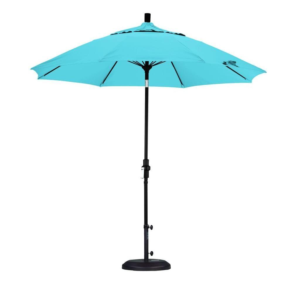 California Umbrella 9 ft. Fiberglass Collar Tilt Patio Umbrella in Capri Pacifica