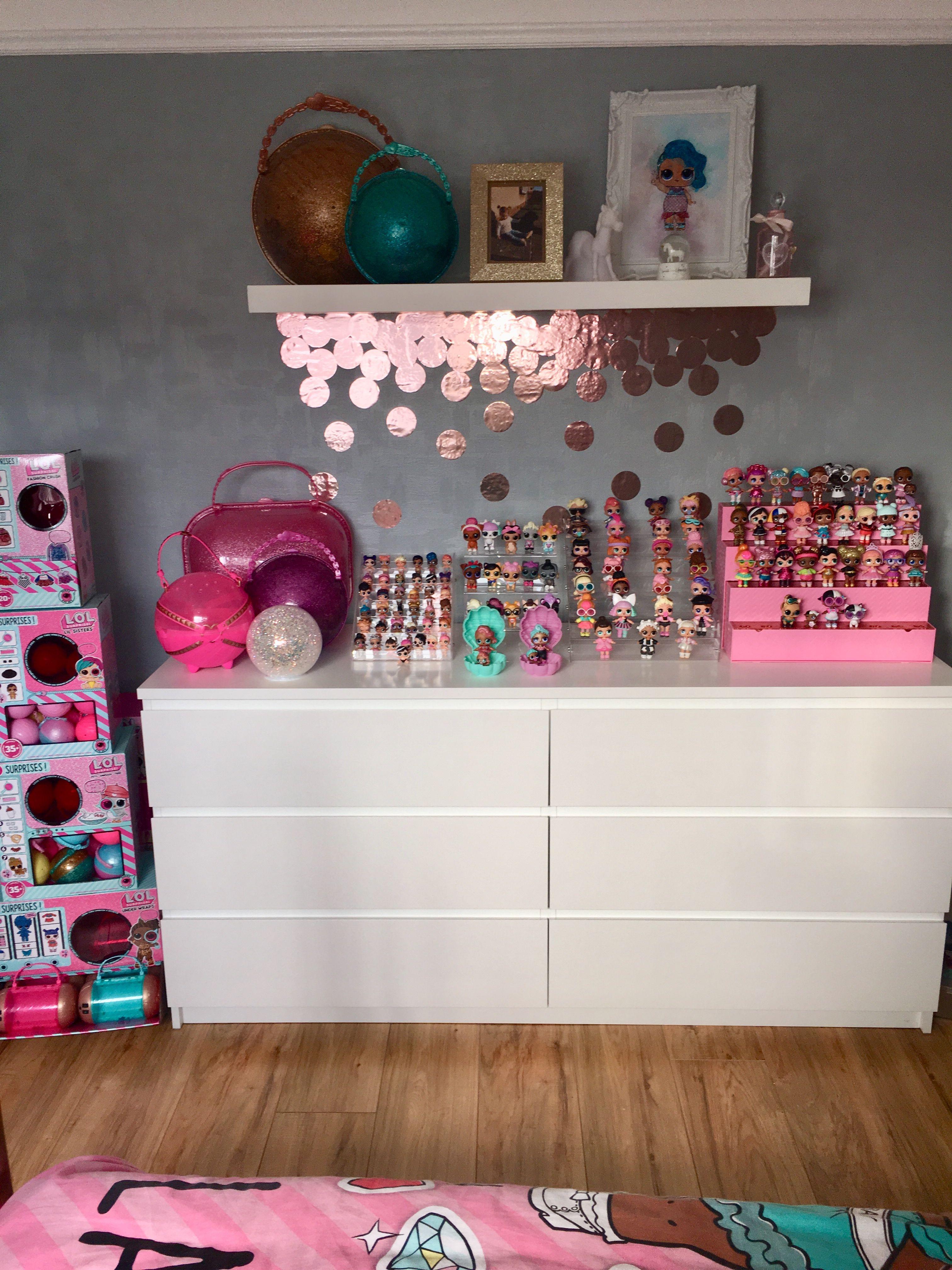 My Little Girls Lol Inspired Bedroom Girlsbedroom Lol Lolsurprise Lolsurprisedolls Loldol Diy Girls Bedroom Lol Surprise Bedroom Ideas Girls Room Decor