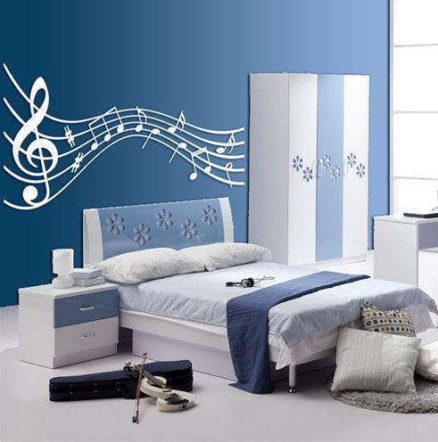Room Theme fresco of music themed décor ideas | bedroom design inspirations