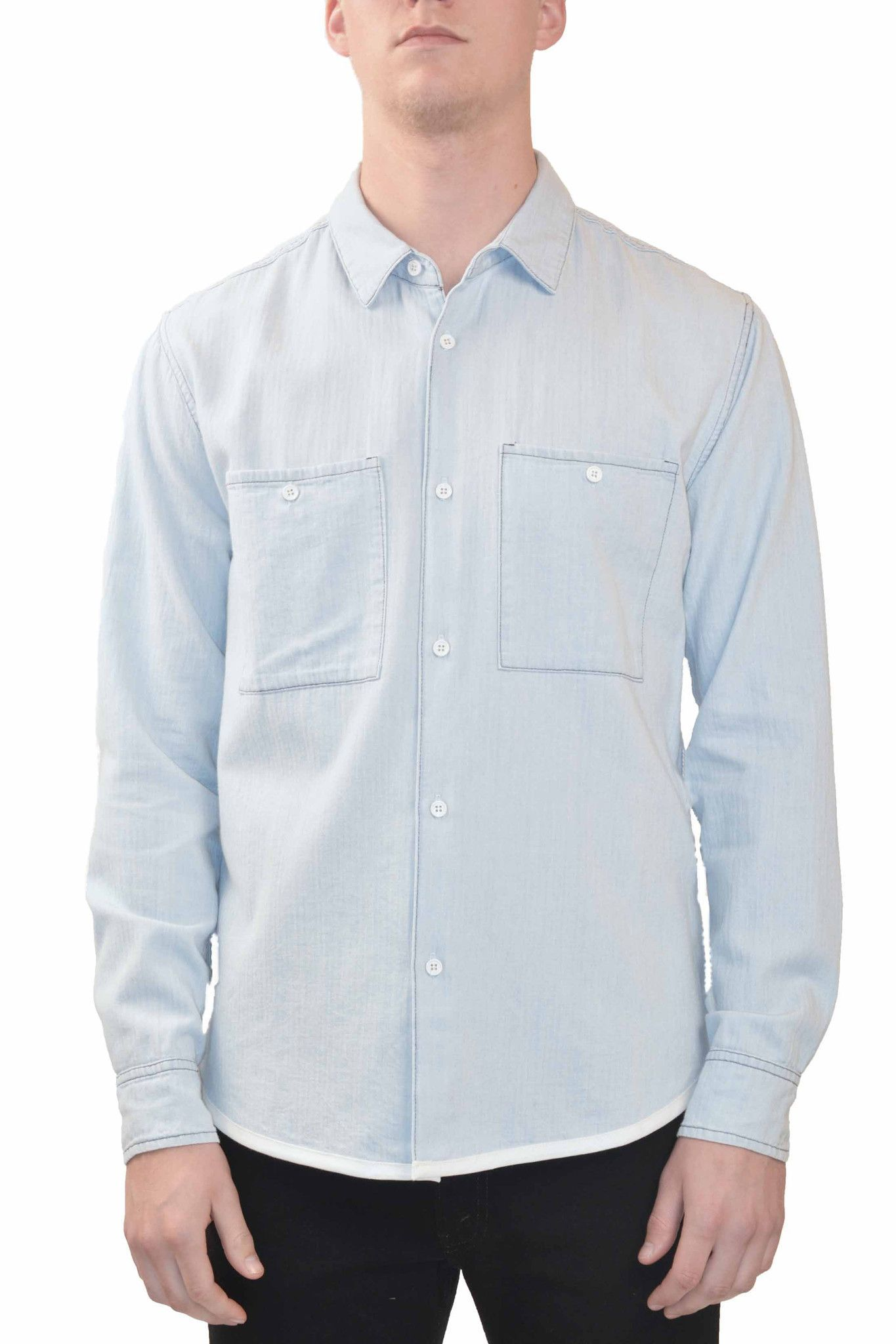 CWST Washed Chambray Button Down Shirt