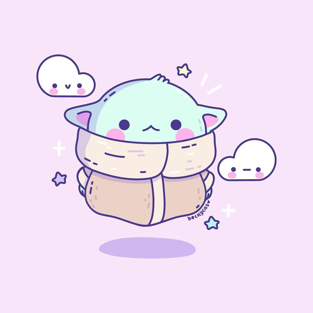 """Becky Cas on Instagram: """"Grogu 💕aka Baby Yoda, the Child😂 Here is a little Fanart I made for fun today. I am going through some art block lately and I've been…"""""""