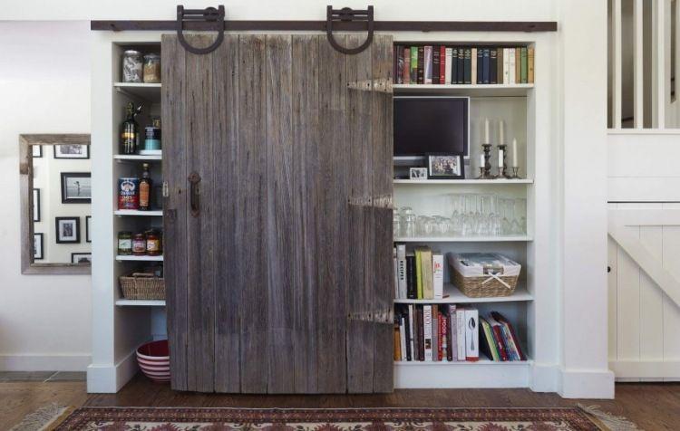 Porte coulissante grange- 35 idées pour la chambre rustique inégalée ...
