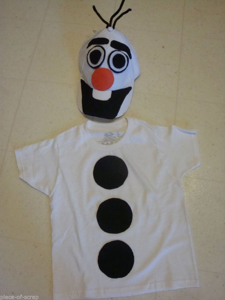 Frozen Disney Olaf The Snowman Halloween Costume Homemade 6 - 8 Boys Girls NEW #Handmade