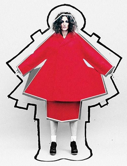 COMME PLAY with these paper dolls: see more in The Comme Line onFiercer Than You. Paper shape sculptural fashion - pinned by RokStarroad.com ~ unleash your inner RokStar - fashion, pop and mental health