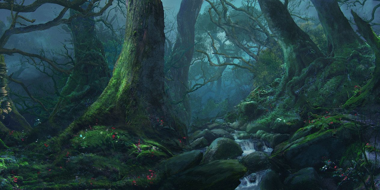 Sweetd3lights Forest Silence By Reinmar84 Night Forest Fantasy Landscape Forest Backdrops