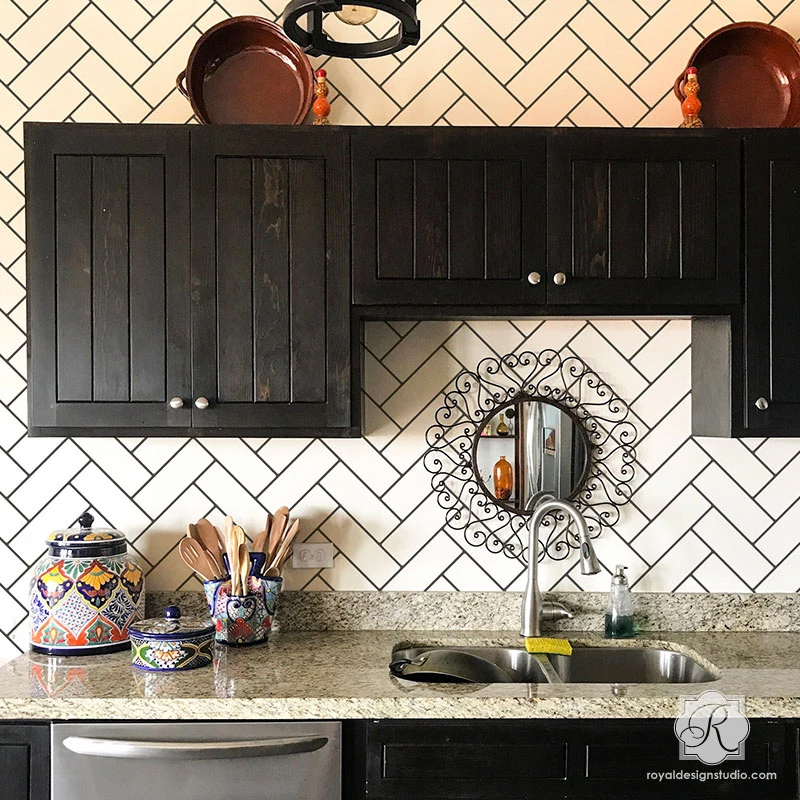 Create the look of faux ceramic subway tiles in your