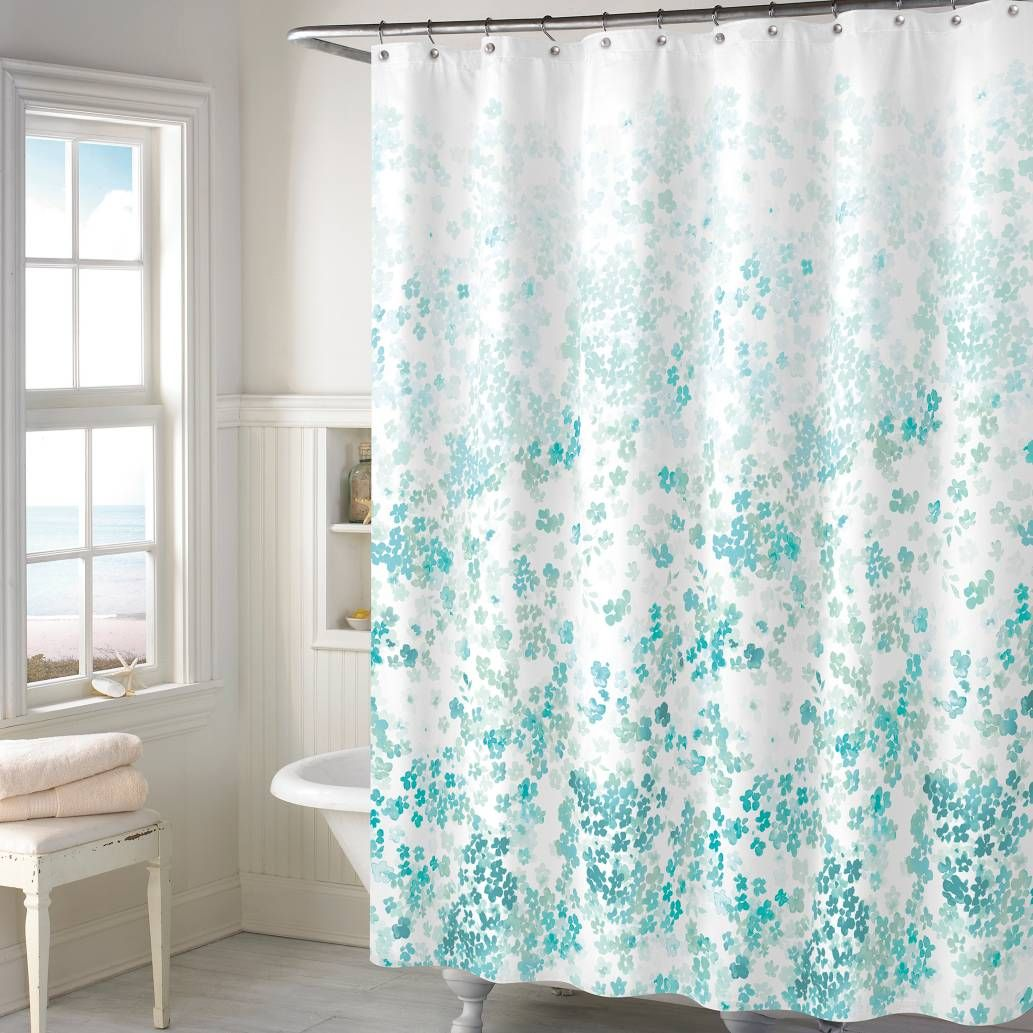 Product image for kimberly floral shower curtain new house
