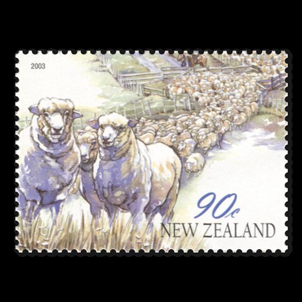 Año 2003 de las ovejas Sellos de correos de Nueva