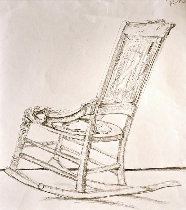 Rocking Chair Sketch By Laura Ogrodnik Rocking Chair Diy Hanging Chair Diy Chair