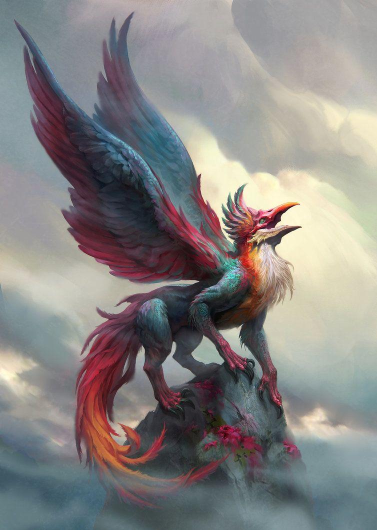 Griffin By Yefumm Deviantart Com On Deviantart Mythical Creatures Art Mystical Creatures Mythology Mystical Animals