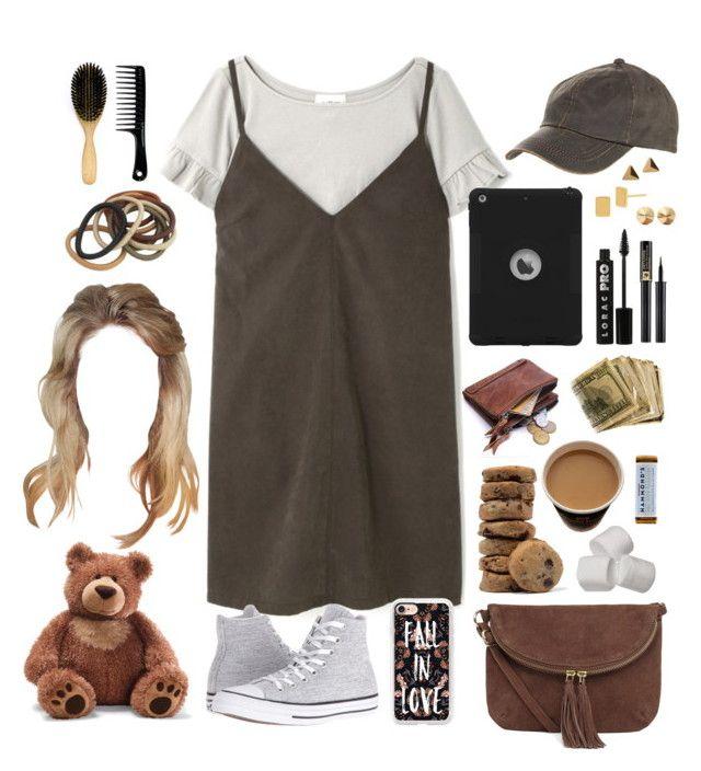 """baby let me be your lovin' teddy bear"" by annefs1 ❤ liked on Polyvore featuring Converse, Casetify, Warehouse, Overland Sheepskin Co., LORAC, Lancôme, Diane Von Furstenberg, Eddie Borgo, Gund and dress"