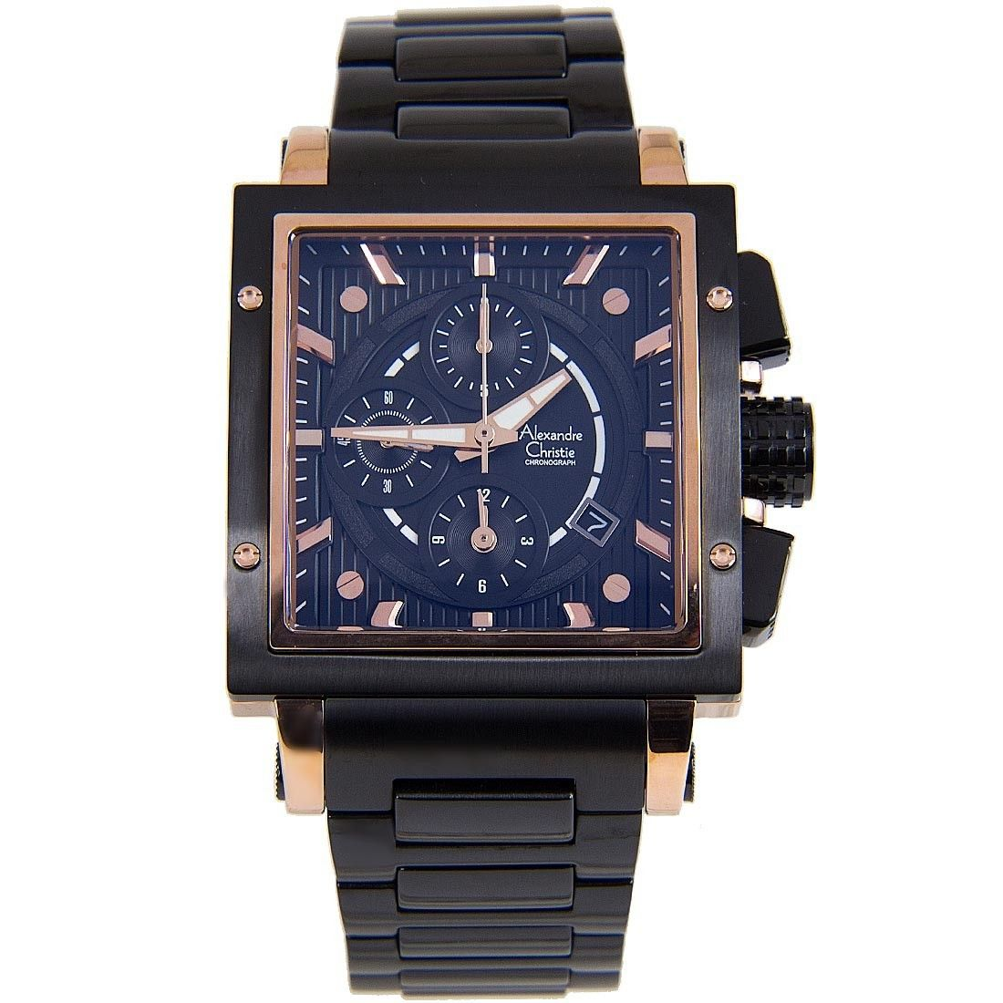 6182mcbbrba alexandre christie chronograph male watch