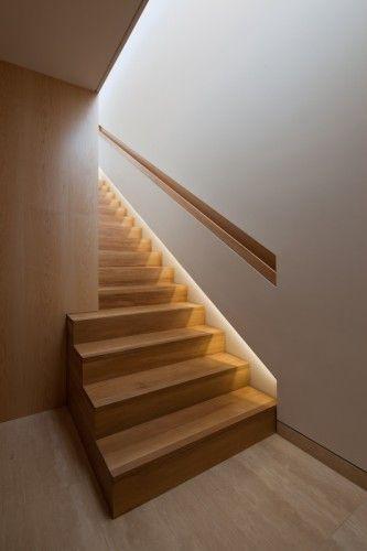 Detalle iluminacion escalera home sweet home pinterest escalera casa pasamanos escalera y - Iluminacion led escaleras ...