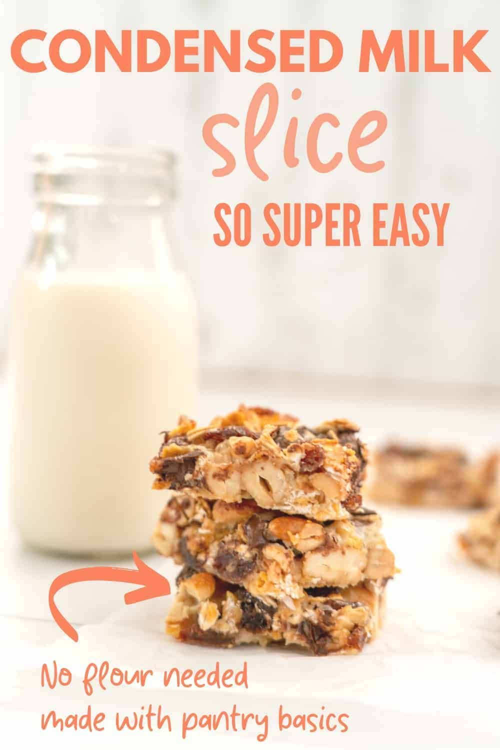 Easy 5 Cup Slice Recipe In 2020 Lactation Cookies Recipe Easy Baking Recipes Milk Recipes