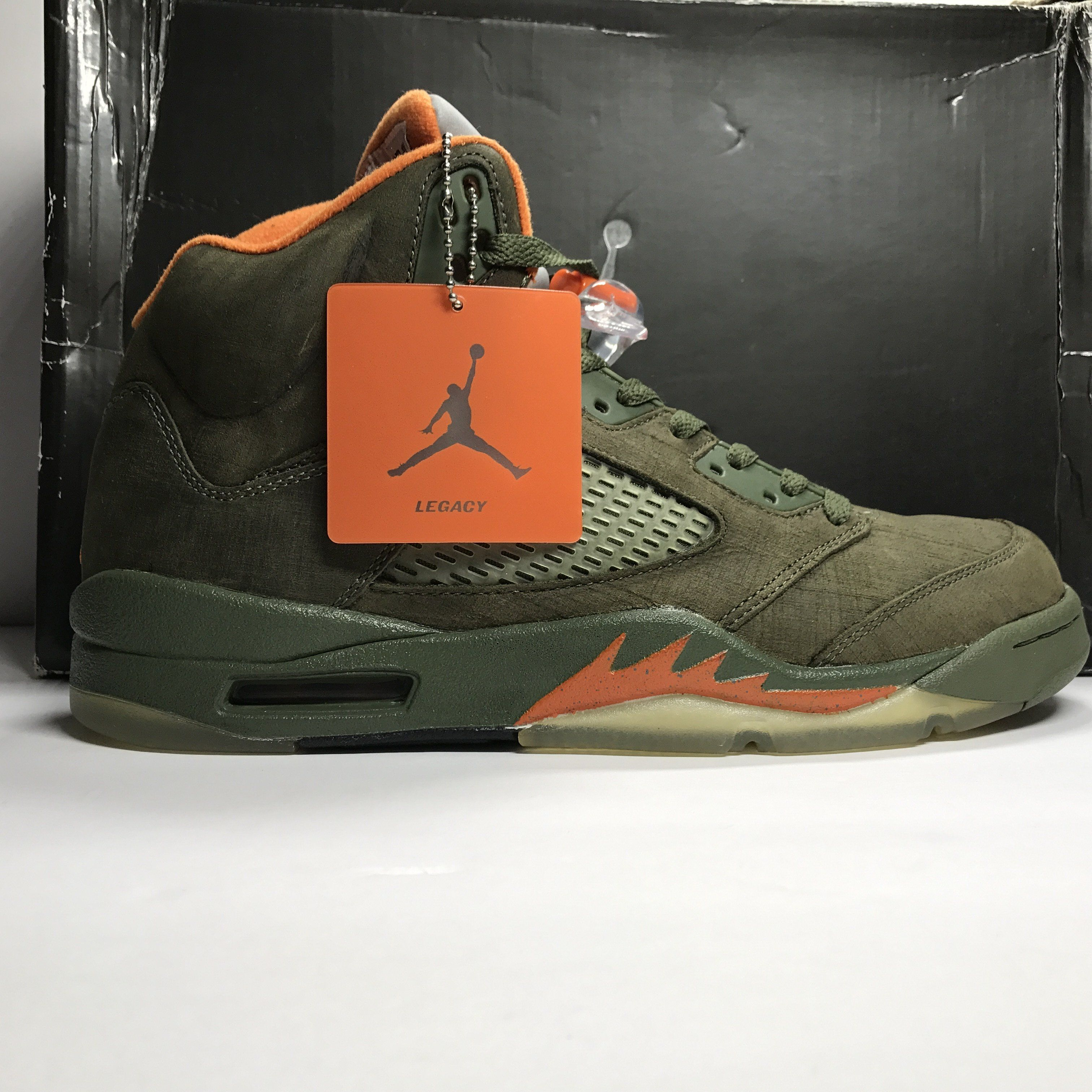 the best attitude 3ff4e 5ac49 DS Nike Air Jordan 5 V Retro LS UNDFTD Olive Army Green ...
