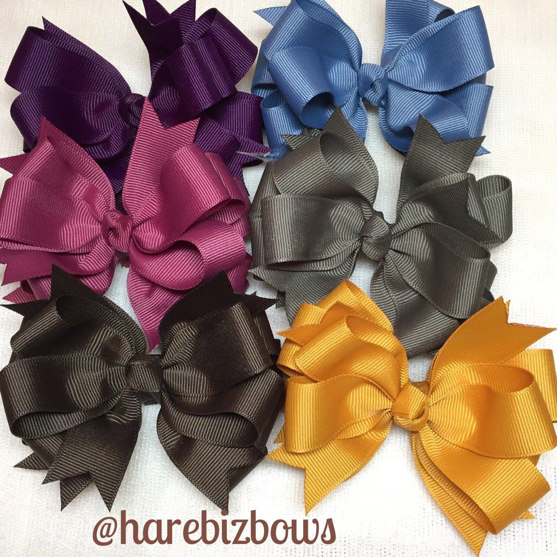 N E W fall solid bows!