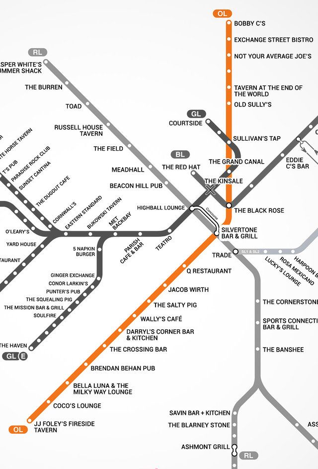 Introducing the first Boston T bar map | New England trip