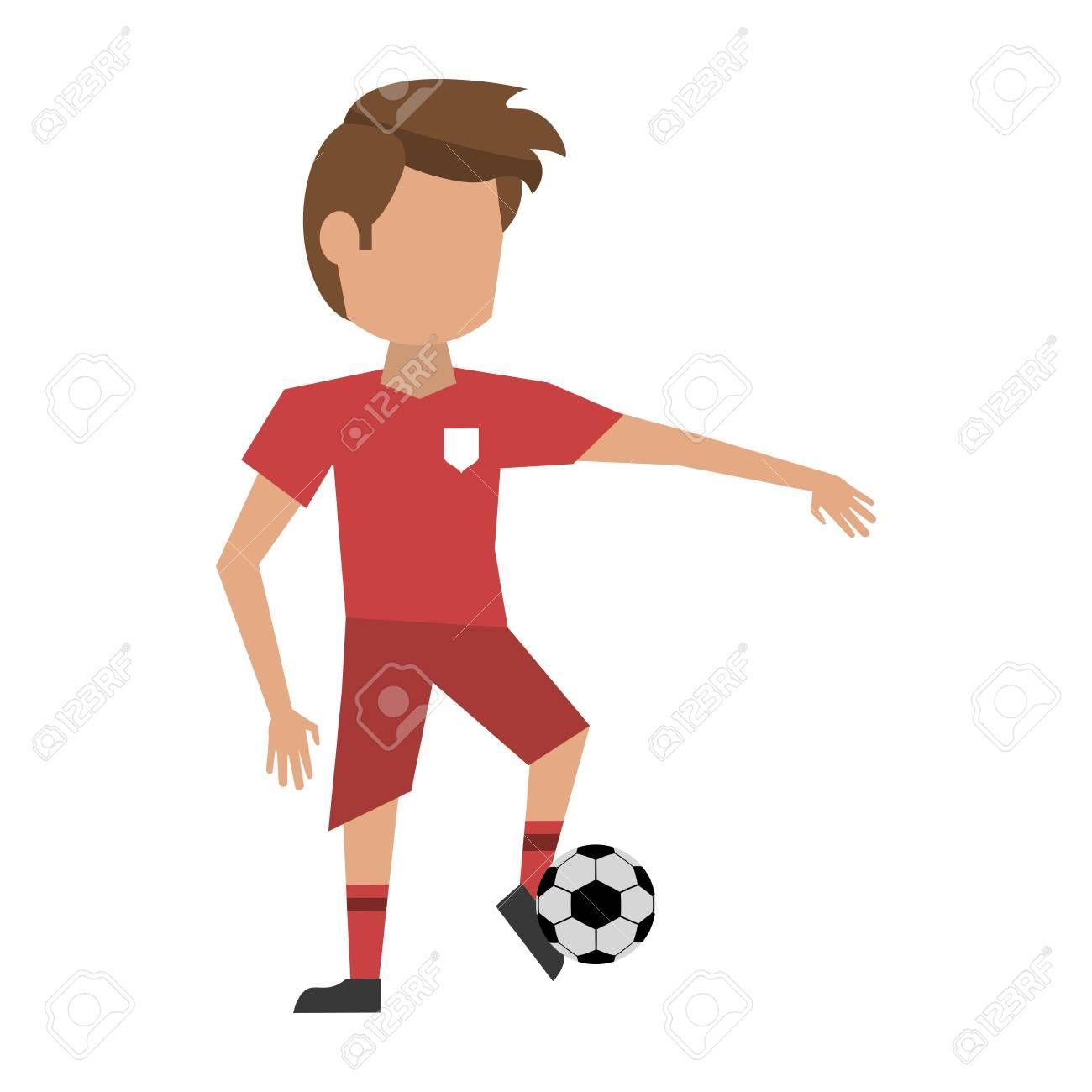 Soccer Player Cartoon Avatar Icon Vector Illustration Graphic Design Illustration Aff Avatar Ico In 2020 Graphic Design Illustration Illustration Design Cartoon