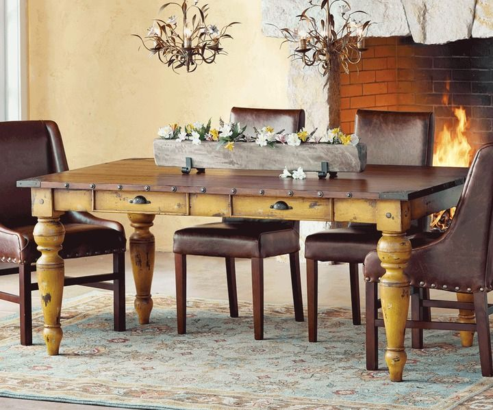 Napa Style Tuscan Farmhouse Dining Table On