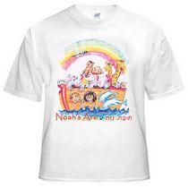 Noah's Ark Kids T-Shirt. White | Children's T-Shirts