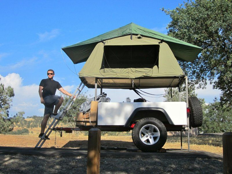 Dinoot Jeep Trailers Jeep Style Trailer Tub Kit with Roof Top Tent built at home by customer & Jeep Camping Trailers...WANT ONE!!!!!!!!!!!!!!!!!!!! | 4?4 ?????? ...