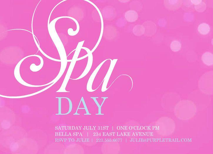 spa invitation template free