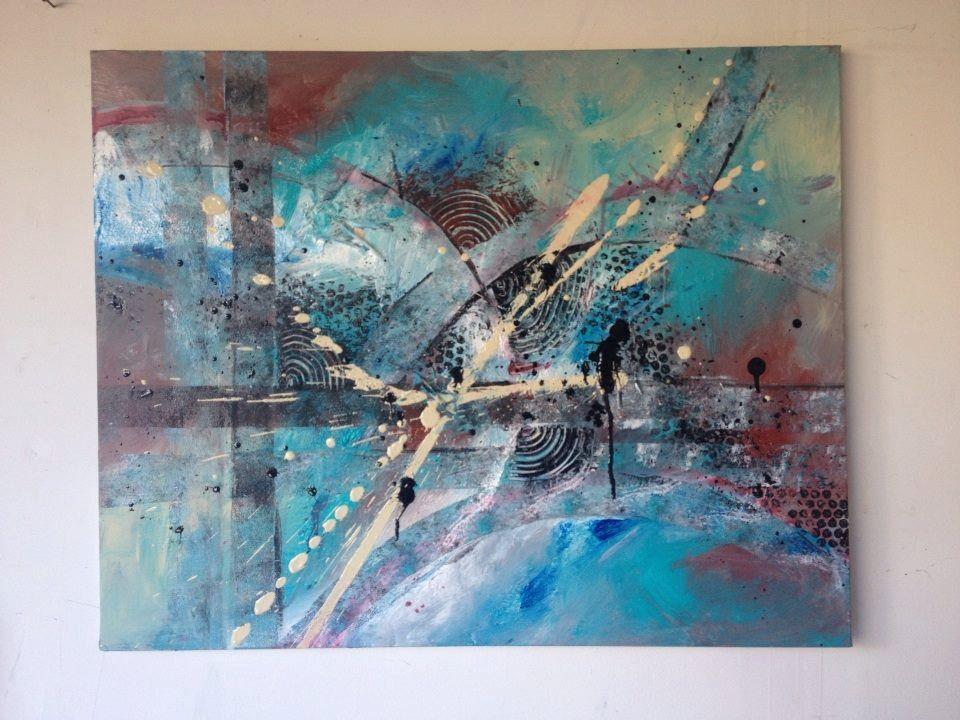 Abstract art on canvas by kimsartandfurniture on etsy