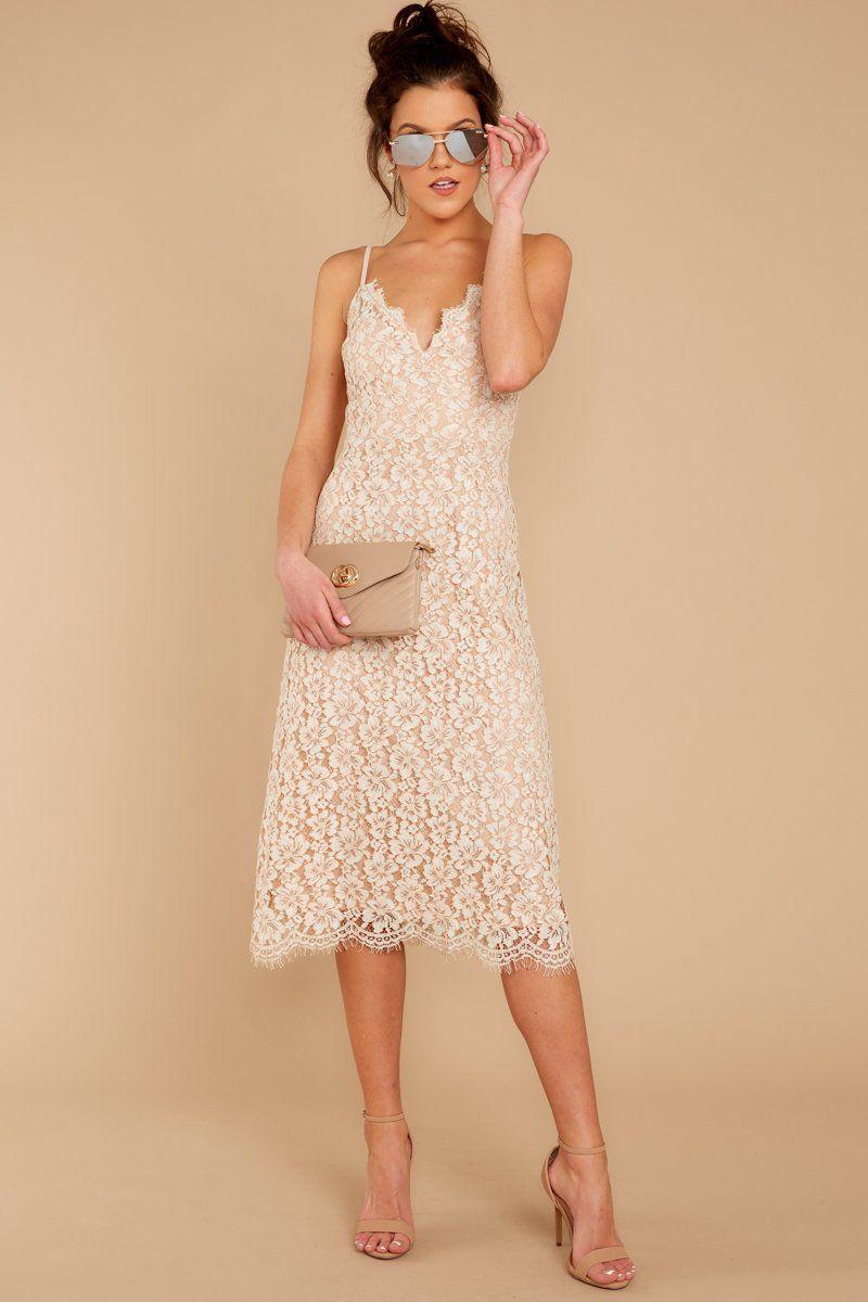 Sweet White Floral Lace Dress Lace Midi Sun Dress Dress