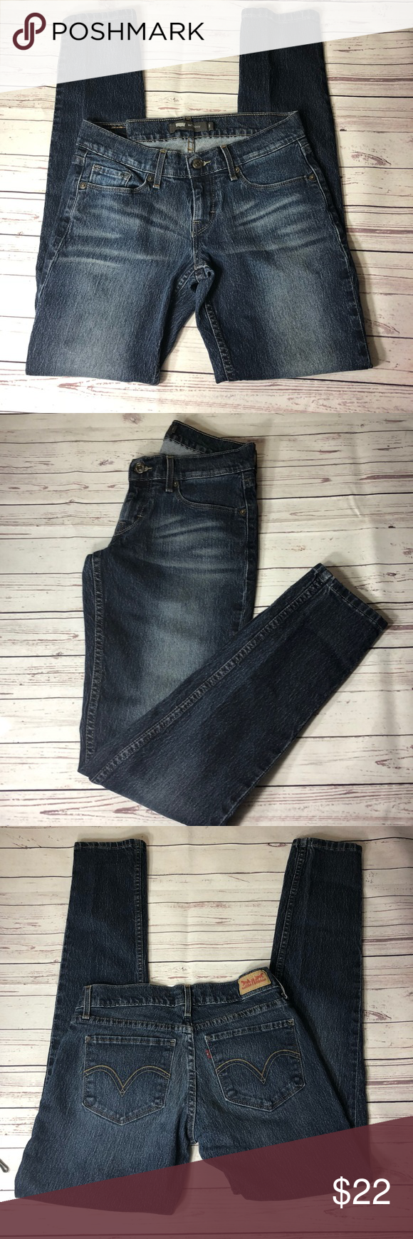 "Levi's 524 Size 3. Inseam 30""  Waist 14"" Rise 7.5"" Levi's Jeans Skinny"