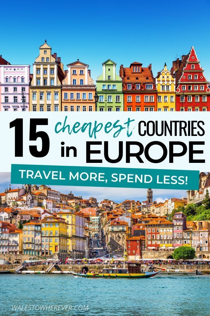 Who says visiting Europe has to be expensive? Travelling Europe on a budget is DEFINITELY possible, and some of the most beautiful countries on the continent can be explored for less than $50 USD per day! These are 15 of the cheapest countries to visit in Europe, that are as incredible as they are budget-friendly. Click to find out which countries they are!   europe destinations #BudgetTravel #EuropeTravel #BeautifulDestinations