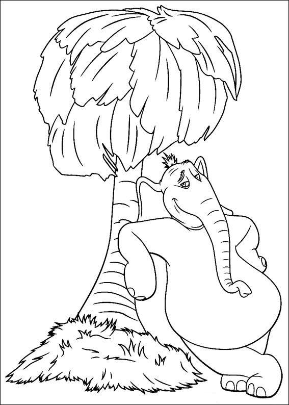 Malvorlagen Horton 2 | Ausmalbilder für kinder | Pinterest ...