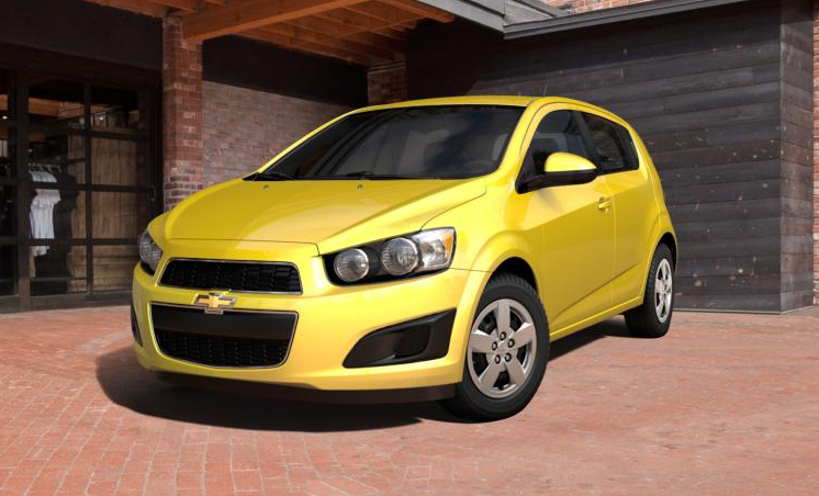 In Transit 2015 Chevrolet Sonic Rs Hatchback In Bright Yellow